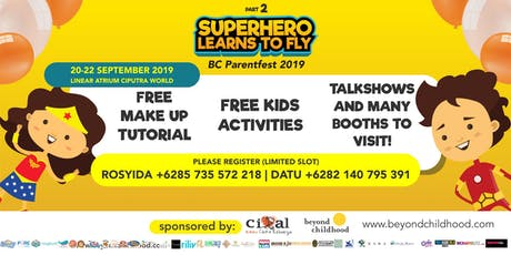Free Parenting Talkshow BC Parentfest Superhero Learn to Fly 2 tickets