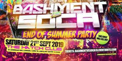 Bashment Vs Soca - End Of Summer Party