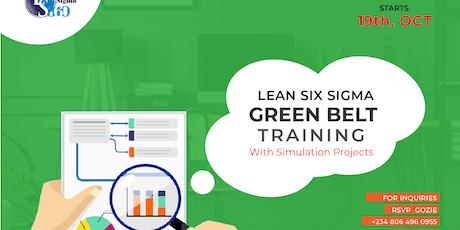 Lean Six Sigma Green Belt Training tickets