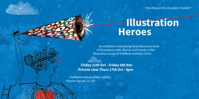 Illustration Heroes Exhibition Private View