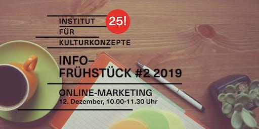 Kulturkonzepte Infofrühstück #2 2019 – Online-Marketing