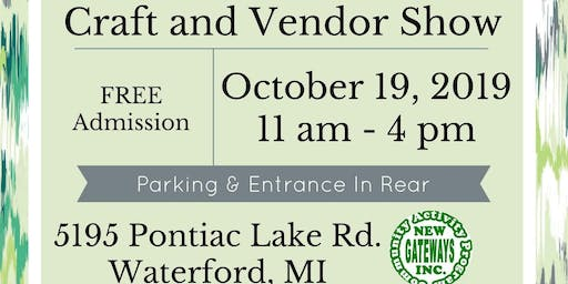 CRAFT  AND  VENDOR FUNDRAISER SHOW FOR NEW GATEWAY'S INC.