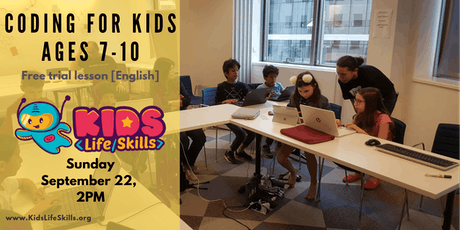 Computer coding for kids ages 7-10 trial lesson  [English] tickets