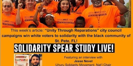 Unity Through Reparations campaigns! Online solidarity group study
