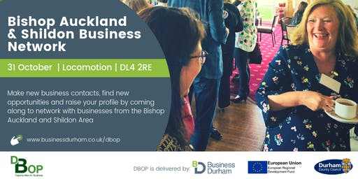 Bishop Auckland and Shildon Business Network - 31 October 2019
