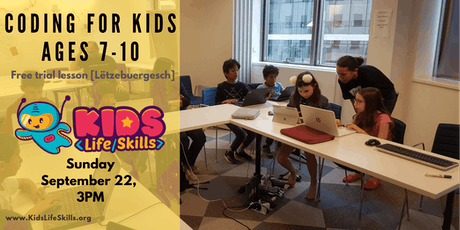 Computer coding for kids ages 7-10 trial lesson  [Lëtzebuergesch] tickets