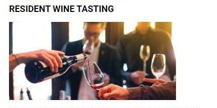 Resident Wine Tasting