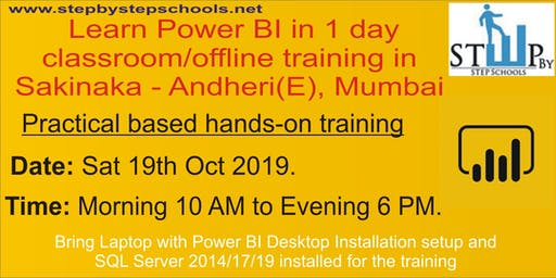 Offline Power BI training in Mumbai.