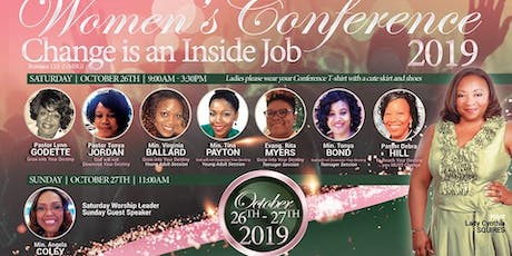 """2019 St. Peter Women's Conference: """"Change is an Inside Job""""  (Romans 12:1-2 MSG) tickets"""