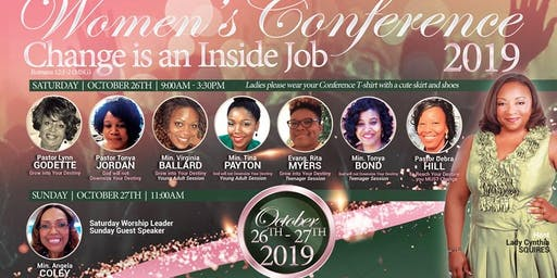 "2019 St. Peter Women's Conference: ""Change is an Inside Job""  (Romans 12:1-2 MSG)"
