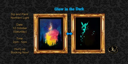 Sip and Paint (Glow in the Dark):  Northern Light