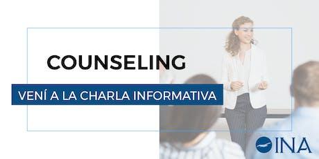 Charla informativa de Counseling entradas