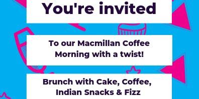 Macmillian Coffee Morning with a Twist