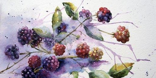 Autumn Botanical Watercolour Painting workshop
