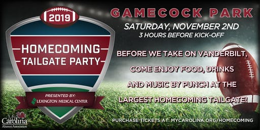 Homecoming Tailgate Party presented by Lexington Medical Center