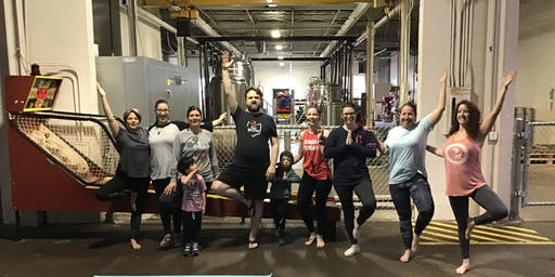 yoga at MadCap Brew Co. with Balance & Brews®