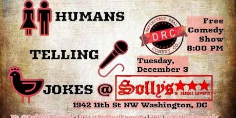 12/3 - Humans Telling Jokes at Solly's tickets