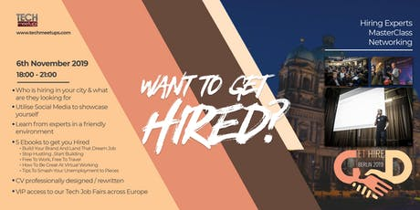 Get Hired Berlin 2019 tickets