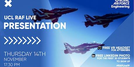 RAF LIVE PRESENTATION - UCL tickets