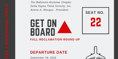 Get On Board: Fall Reclamation RoundUp