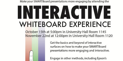 Interactive Whiteboard Experience 11/22/19