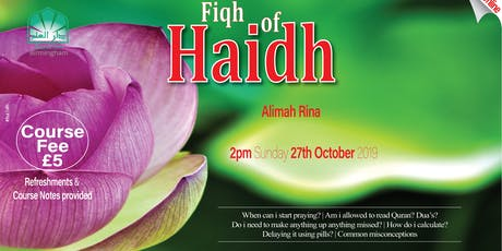 Fiqh of Haidh tickets