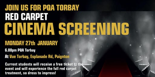 PQA Torbay Red Carpet Cinema Screening