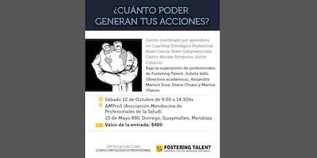 Jornadas de Coaching ¿CUÁNTO PODER GENERAN TUS ACCIONES? entradas