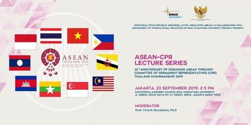 10th Anniversary of Engaging ASEAN through CPR: Thailand Chairmanship 2019