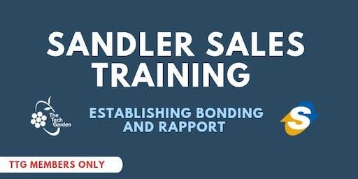 Sandlers Sales Training:  Establishing Bonding & Rapport