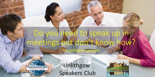 Find your Voice at Linlithgow Speakers Club