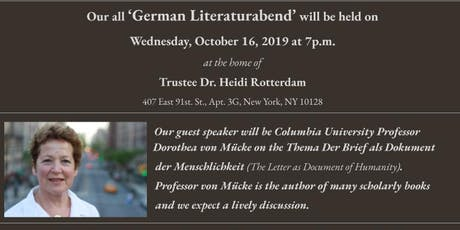 Members Only German Literaturabend tickets