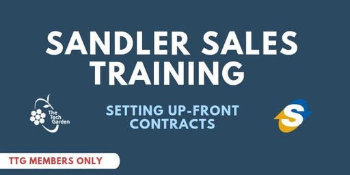 Sandlers Sales Training: Setting Up-Front Contracts