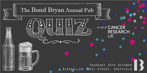 The Bond Bryan Annual Pub Quiz
