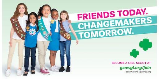 Antigo Unicorn Girl Scout Recruitment Party