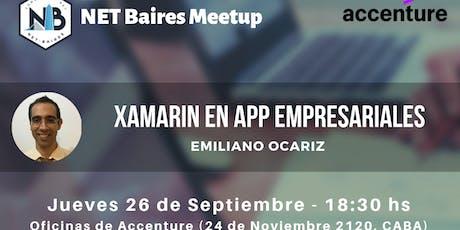 Xamarin en Apps empresariales entradas
