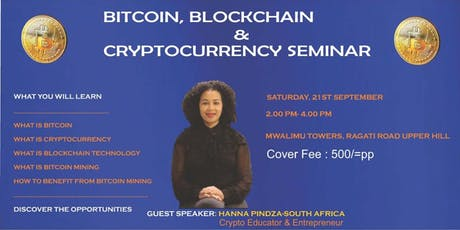 CRYPTOCURRENCY SEMINAR - OPPORTUNITIES AVAILABLE & HOW TO MAKE MONEY IN THIS SPACE tickets