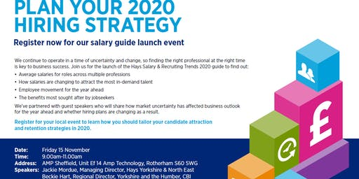 Hays Salary Guide Launch 2019 - Sheffield