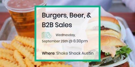 Burgers, Beer & B2B Sales tickets