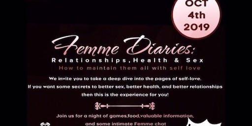Femme Diaries: Relationships, Health & Sex  Self Love  Workshop