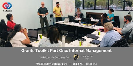 Grants Toolkit Part One – Internal Management  tickets