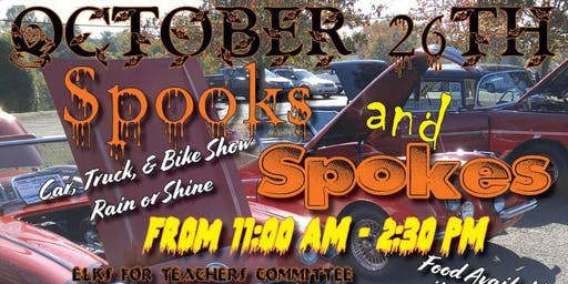 Spooks and Spokes: Classic Car, Truck and Bike Show