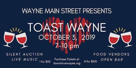 Volunteer For Toast Wayne tickets