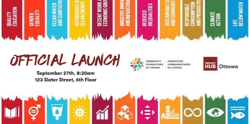 Official Launch: Expanding our home as centre for SDGs in Canada's Capital