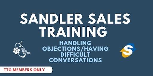 Sandler Sales Training: Handling Objections/ Having Difficult Conversations