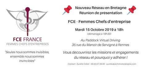FCE Femmes Chefs d'Entreprise - Réunion de présentation billets