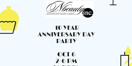 Nbeautyinc 10 Year Anniversary Party tickets