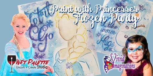 Paint with Princesses Frozen Party