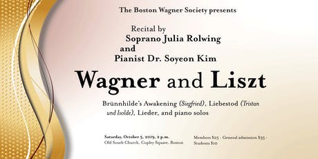 Wagner and Liszt tickets
