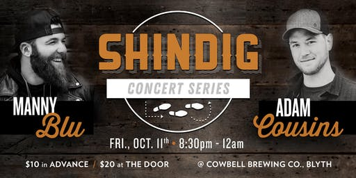 Shindig Concert Series presents Manny Blu & Adam Cousins